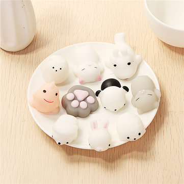 10PCS Random Squishy Lot Slow Rising Soft Kawaii Cute Squeeze Animal Toy