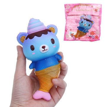 Squishy Galaxy Bear Fish Slow Rising Collection Toy Soft Gift With Packing