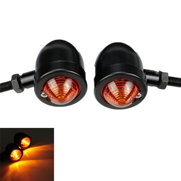 Motorcycle Turn Signal Bullet Amber Light Indicator Blinker For Harley
