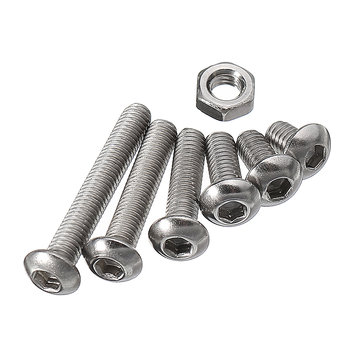 Suleve™ M3SH3 M3 Stainless Steel Hex Socket Button Head Cap Screws Bolts Nuts Assortment 230pcs