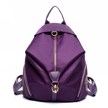 Women Elegant Color Secret Backpack Nylon Unique Retro Shoulder Bag