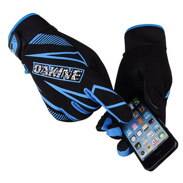 Winter Touch Screen Gloves Unisex Fleece Windproof Thermal Gloves For Outdoor Cycling Texting