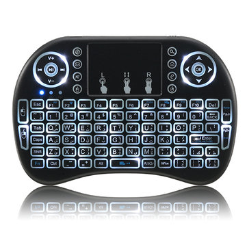 I8 2.4G Wireless White Backlit Arabic Mini Keyboard Touchpad Air Mouse