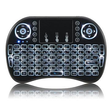 I8 2.4G Wireless White Backlit Arabic Mini Keyboard Touchpad Air Mouse