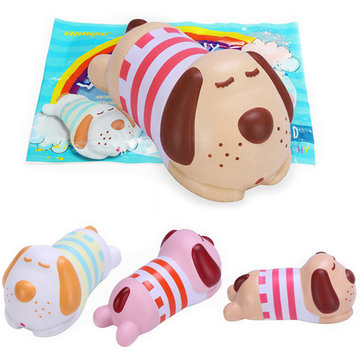 Vlampo Squishy Jumbo 19cm Luck Hans Tony Doggy Puppy Dog Slow Rising Original Packaging Collection Gift Decor