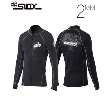 SLINX Diving Jacket 2mm Sunscreen Warm Front Zipper Long Sleeve Thin Section Split Diving Swimwear