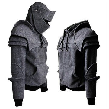 Retro Protective Elbow Mask Plus Size Knight Hoodies