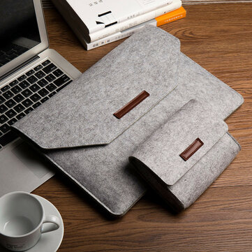 Soft Wool Felt Sleeve Bag Case Anti-Scratch Cover Handtas voor MacBook Air Pro Retina 11 ~ 15 inch