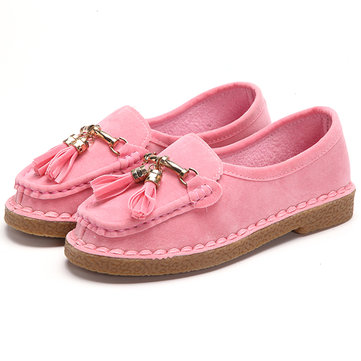 Nappe casual Slip On Pure Color scarpe a punta tonda