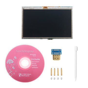 5 Inch Plug-and-Play 800 x 480 HD LCD Display Module With USB Touch Screen For Raspberry Pi/Beaglebone Black/Udoo/Computer Stick/SLR Camera/PC/Laptop