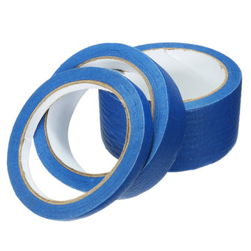 25m Blue Masking Tape High Temperature Resistance Adhesive Tapes 10/25 / 50mm