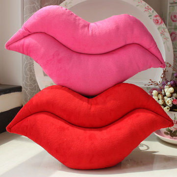 Creative Funny Red Rose Red Lip Throw Pillow Plush Sofa Chair Car Decoration Cushion