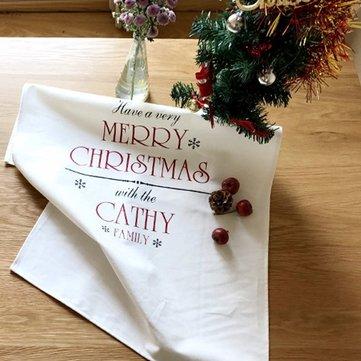 Noel Beldesi Taze Pamuk Masa Örtüsü Peçete Bezi Ev Tekstili İzolasyon Bezi Fırın Minder