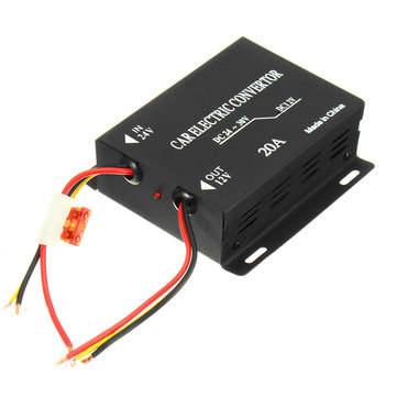 240W Car Electric Convertor DC 24V To 12V 20A Power Supply Inverter Transformer