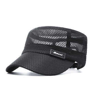 Men Summer Outdoor Mesh Breathable Flat Hat Quick-Drying Casual Sunscreen Visor Hat