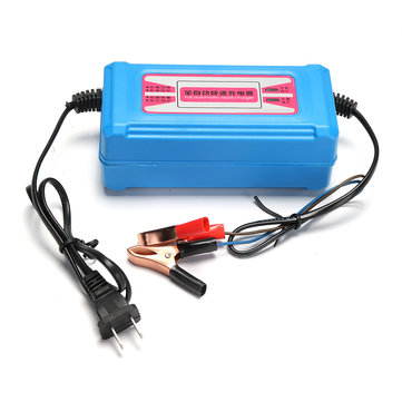 DC 12V 6/10/16A Smart Battery Charger Maintainer Charging with Digital Display
