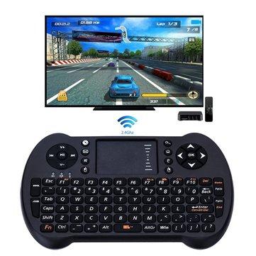 Tastiera Wireless 2.4G con Touchpad Mouse Game Held per Android TV Box/Xbox 360/PC di Windows