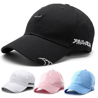 Unisex Snapback Ring Hip-Hop Hats Embroidery Cotton Blend Baseball Cap