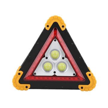 3COB+36 LEDs 1600LM 4 Modes Outdoor Portable Handle Triangle Emergency Lights Car Repair Work Light Flashlight