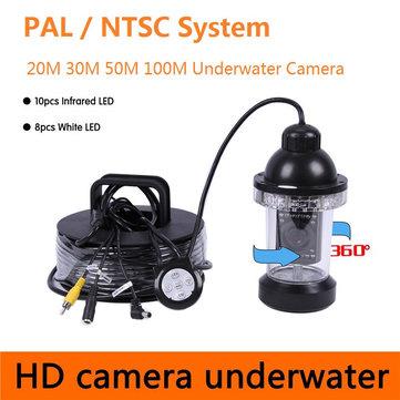 CR-006B Panning Under Water Camera 360 Rotative 18Pcs White LED Fishing Waterproof Fish Finder Camera