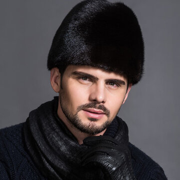 Unisex Winter Russian Style Plus Velvet Warm Mink Fur Hat
