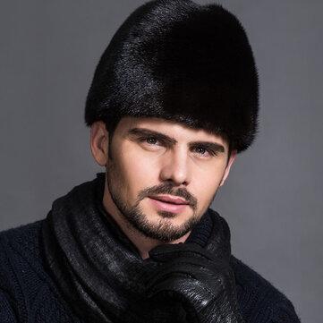 Unisex Winter Russian Style Plus Velvet Warm Mink Fur Hat