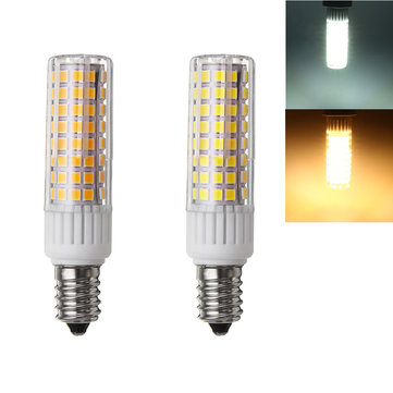 E14 7.5W SMD 2835 Warm White Pure White Energy Saving LED Corn Light Bulb AC100-265V