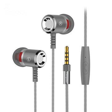 Langsdom M400 Metal Heavy Bass en la oreja Auricular Auriculares con micrófono para Xiaomi Huawei Samsung Note8 S8