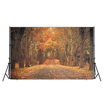 7x5ft Autumn Forest Background Photography Backdrop Studio Photo Vinyl Cloth