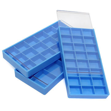 8 18 24 Grid Blue Storage Box Case Container For Hook Tiny Jewelry Watch Fitting