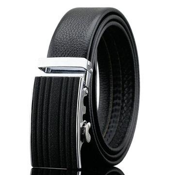 125-130CM Entreprise Ceinture en cuir Fashion Automatic Buckle Belt Waistband For Mens
