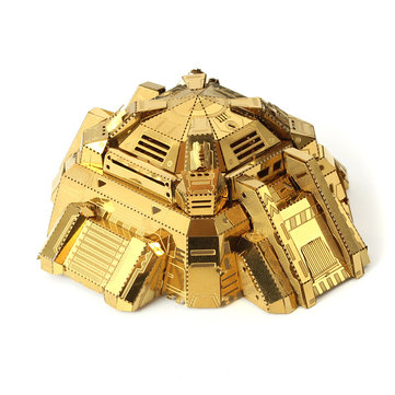 MU BH-N01 Blockhouse 3D DIY Metal Puzzle Model Gold Color Collection 75*70*30mm