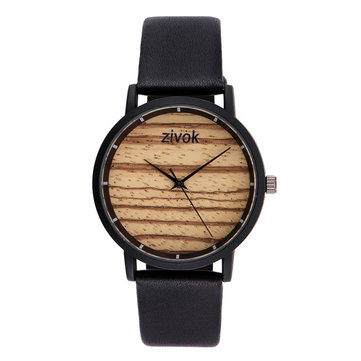 ZIVOK 8006 Wood Decoration Fashionable Ladies Wrist Watches