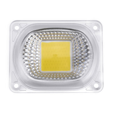 High Power 50W White / Warm White LED COB Light Chip with Lens for DIY Flood Spotlight AC220V