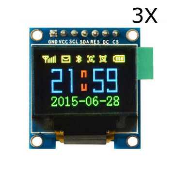 3Pcs 0.95 Inch 7pin Full Color 65K Color SSD1331 OLED Display SPI For Arduino