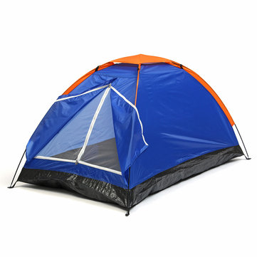 Outdoor 1-2 Person Double Camping Tent Single Layer Waterproof UV Beach Sunshade Canopy