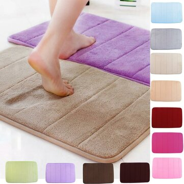 Honana WX-326 50x80cm Stripe Pattern Memory Foam Mat Absorbent Bathroom Anti Slip Carpet