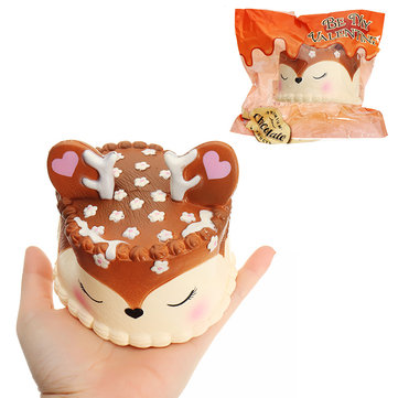 Eric Chocolate Deer Fawn Cake Squishy 10CM Slow Rising Soft Collection Gift Decor Toy Original Packaging