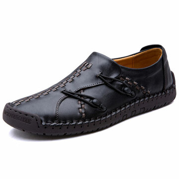 Banggood Shoes Men Comfortable Genuine Leather Soft Sole Hand Stitching Oxfords Shoes