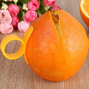 2 Pieces Orange Opener Peeler Cutter Plastic Lemon Fruit Skin Remover Slicer Parer Kitchen Tools