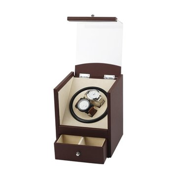 Automatic Rotating Wood Watch Display Box