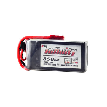 AHTECH Infinity 2S 7.4V 850mAh 85C Graphene LiPo Battery JST XT30 for RC Drone FPV Racing