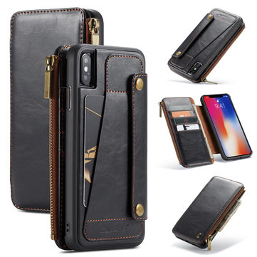 Caseme Protective Case For iPhone XS Max Vintage Detachable Wallet Card Slots
