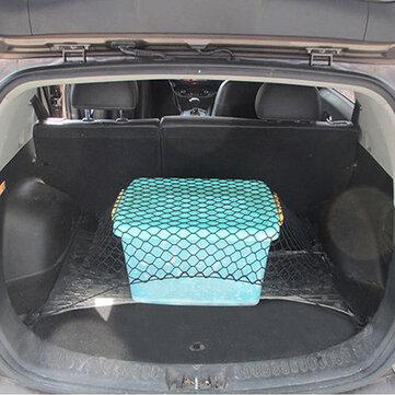Universal 70X70cm PP Car Rear Trunk Storage Net Rear Cargo Elastic Mesh Organizer