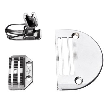 Heavy Needle Plate with Presser Foot Set for Juki DLN-415 DLN-5410 DLN-9010 Sewing Machine