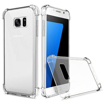 Air Cushion Corners Transparent TPU Case For Samsung Galaxy S7 Edge