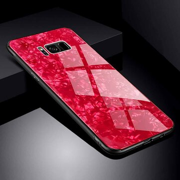Bakeey Shell Pattern Glossy Glass Soft Edge Protective Case for Samsung Galaxy S8