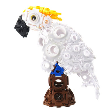 Flytec Educational Building Blocks Toy Children Gift Parrot Magic Buckle 123pcs