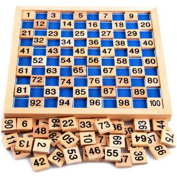 Matemáticas montessori material de niño que aprende número educationa madera 1 a 100