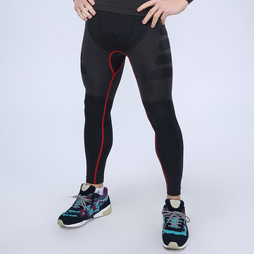 Men's GYM Sprots Training Leggings Quick Drying Elastic Waist Tights Pants Trousers